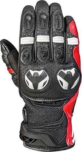 Ixon RS Call Air - Guantes de moto (talla L), color negro y rojo y blanco