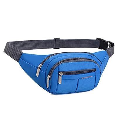 Sac de taille 4 poches zippées Sailinna étanche sac banane pour voyage randonnée à vélo pêche en plein air sport vacances argent sac à bandoulière chien marche