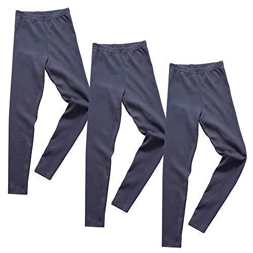 HERMKO 2720 3er Pack Kinder Legging aus Bio-Baumwolle, Farbe:Marine, Größe:104