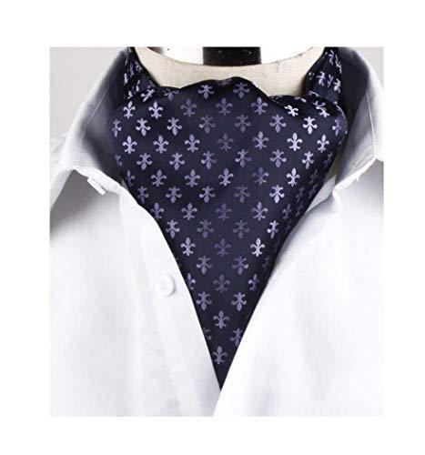 Yuany Männer lila Paisley Jacquard gewebte Seide Krawatte Krawattenschal Formal Ascot