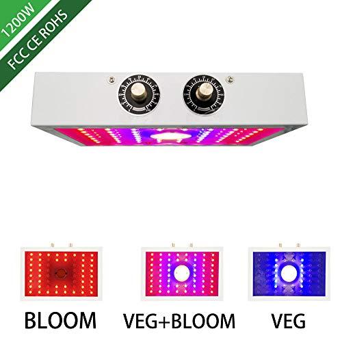 Amztxs 1200W COB Lámparas de Cultivo de Plantas, Luces de Cultivo LED para Plantas de Interior y plántulas El Espectro Completo