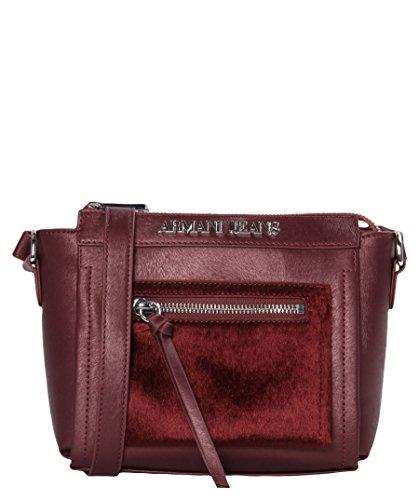 Armani Jeans 9221046A728 Damen Schultertaschen 17x7x23 cm (B x H x T), Rot (BORDEAUX 00176)
