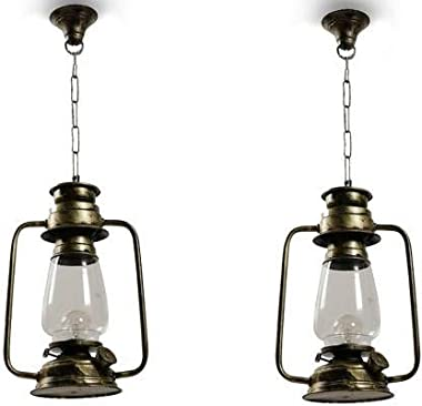 ZADLAXAR Lantern Hanging Decorative Light Chandelier Without Bulb Pack of 2 Chandelier Ceiling Lamp