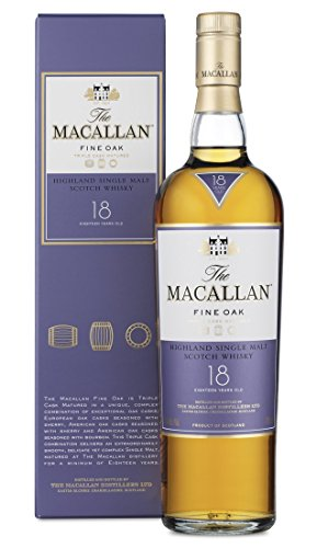 Macallan Fine Oak 18 Años Single Malt Whisky Escocés, 43% - 700 ml