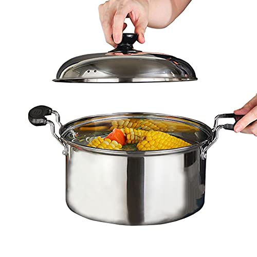 WSYW Stainless Steel Stock Pot with Lid Non Stick Stock Pot Multi-Specification Soup Pot Suitable for All Family Size Casseroles 7.87*6.69*6.29*4.13in