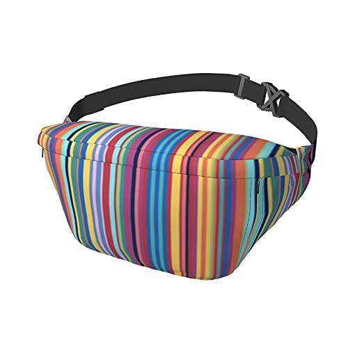 Bauhaus Stripe VertSport Brusttasche Messenger Bag Bauchtasche geeignet für Damen und Herren Outdoor Aktivitäten Radfahren Laufen