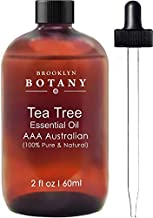 Brooklyn Botany Tea Tree Oil - AAA+ (Australian) - Therapeutic Grade - 100% Pure and Natural - 2 oz with Dropper