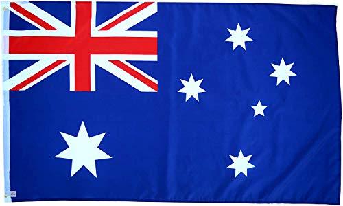 Ericraft Bandera Australiana Grande 90x150cms Bandera de Australia de balcón para Exterior Reforzada y con 2 Ojales metálicos, Bandera Australia Tela