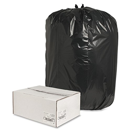 Nature Saver Black Low-Density Recycled Can Liners Trash Bag, Extra Large, 100 per Carton