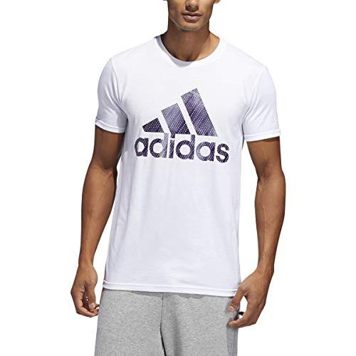 adidas Men's Badge of Sport Mesh Invert Short Sleeve Tee