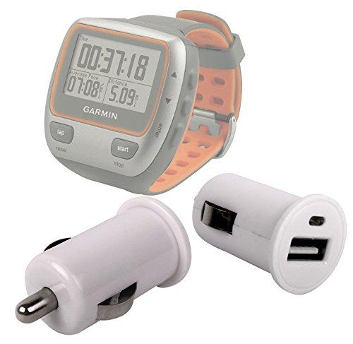DURAGADGET Adaptador De Coche con Puerto USB para Reloj GPS Deportivo Garmin Forerunner 310XT / 220 HRM / 610 HRM