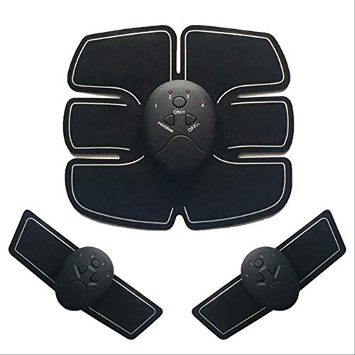 VBNM Muskelstimulator EMS Bauchmuskeltrainer Abnehmen Fettverbrennung Massage Simulator Fitness Trainingsgerät Workout Hüftmuskelstimulator BelGrey