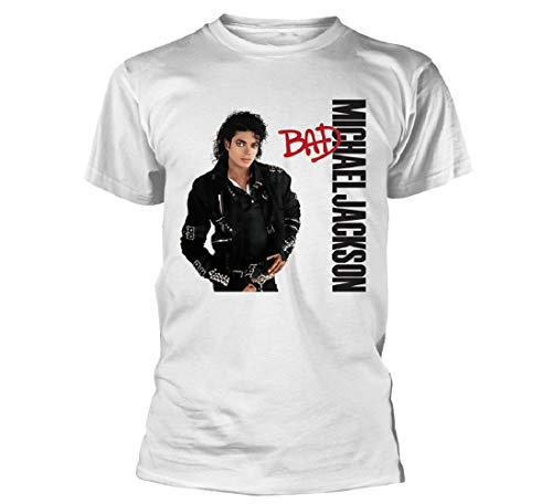 Michael Jackson Bad White T-Shirt M