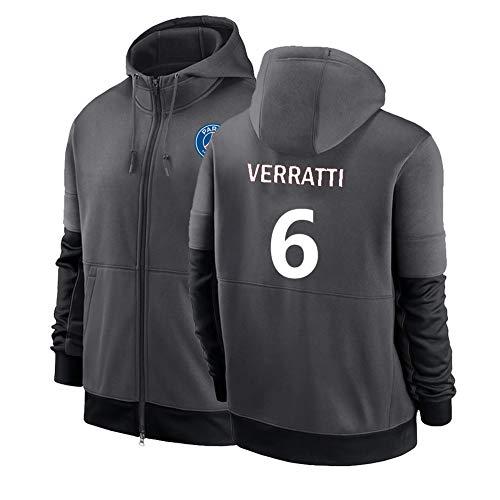 LJF Marco Verratti # 6 Football Sudadera con Capucha Suéter De Fútbol Cálido Y Grueso Sudadera Unisex S-3XL (Color : I, Size : Adult Medium)