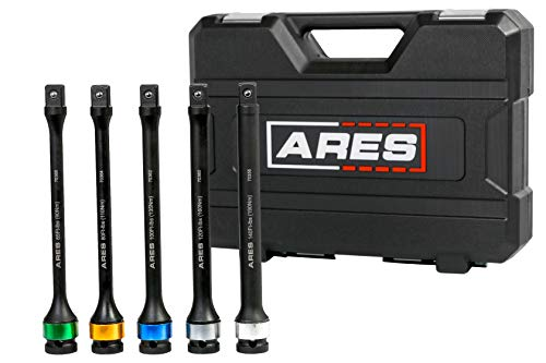 ARES 70367 - Torque Limiting Extension Bar Set