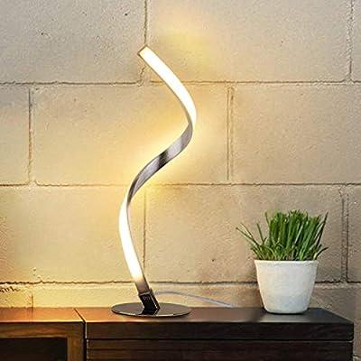★【Diseño en Espiral Único & Elegante】Albrillo lámpara de mesa LED se destaca por su diseño minimalista: el diseño en espiral está equipado con una base de metal suave y un cuerpo de lámpara de acero inoxidable de alta calidad, que crea una atmósfera ...