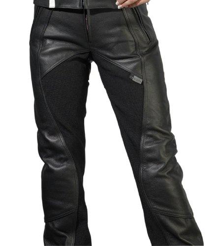 Racer Beasty Pantalones de motorista para mujer, negro