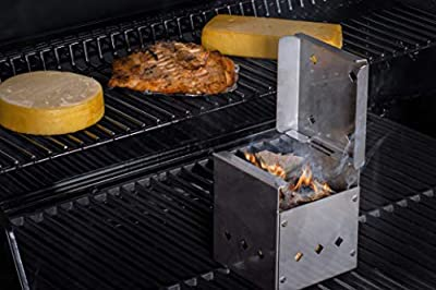 DiamondKingSmoker BBQ Smoker Cooker Box for Grill Turn Any BBQ Grill Into A Smoker | No Propane or Charcoal Needed | Provides All The Heat and Smoke to Cook Any Food