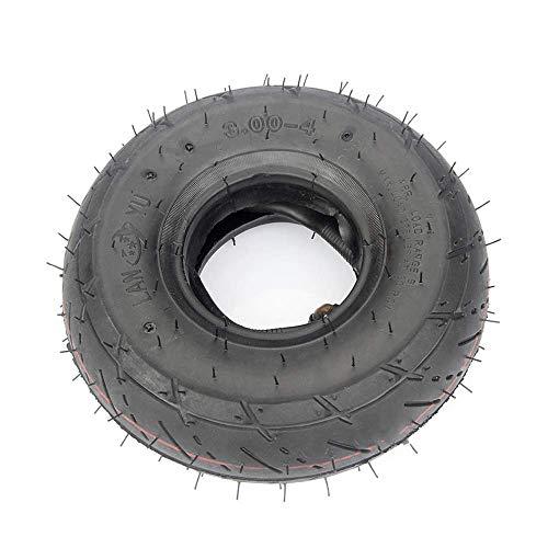 WYDM Neumáticos para patinetes eléctricos, neumáticos Interiores y Exteriores inflables 3.00-4, Resistentes...