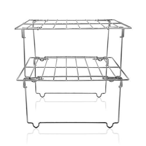 Kitchen Storage Cupboard Organiser - Stainless Steel Food Can Rack Organizer | Cupboard Shelf Organizer for Kitchen Storage Solutions | Design for Kitchen, Plate, & Bathroom Accessories