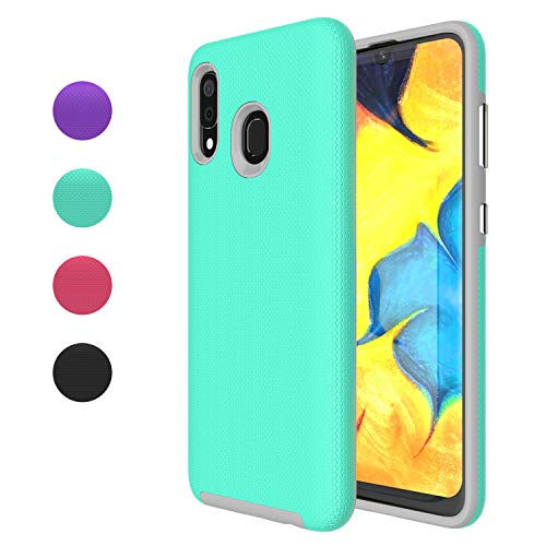 Ownest Compatible Samsung Galaxy A20 Case,Samsung Galaxy A30 Case Anti-Fall Dual Layer 2 in 1 Hard PC TPU with Protection Lightweight for Samsung Galaxy A20,Galaxy A30 (6.4 Inch)-(Mint Green-3)