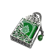 Beautiful decorative Islamic car hanging ornament necklace for Muslim Feature: Mini Al-Quran in small metal cage pendant with hanging necklace chain Good for hanging on the rear view mirror of your car or truck, or hanging on the door, window, or fur...