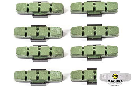 4 Paar MAGURA Original Brems Belag hydraulische Felgenbremse HS11 22 24 33 66 grün