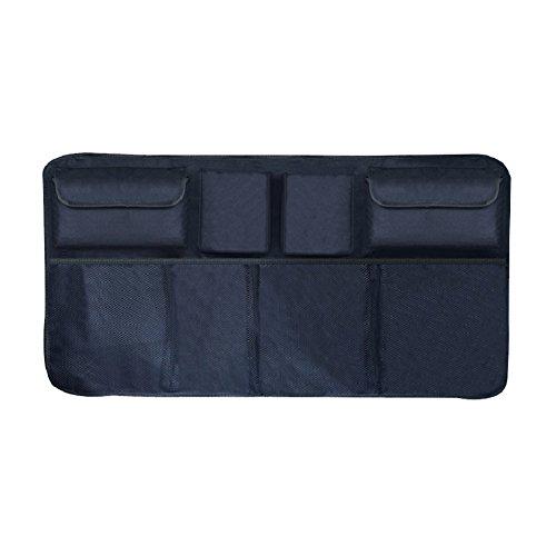 Kalaokei Taille universelle Organiseur de coffre de voiture Siège arrière à suspendre poches filet de rangement Sac, Noir 2, with Upper Pocket