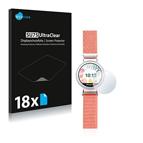 Savvies 18x Schutzfolie kompatibel mit Pingonaut Puma Bildschirmschutz-Folie Ultra-transparent