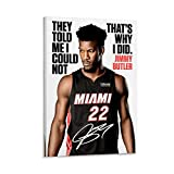 Sports Legend Basketball Superstar Jimmy Butler HD Art Poster Poster Decorative Painting Canvas Wall Art Living Room Posters Bedroom Painting 12x18inch(30x45cm)