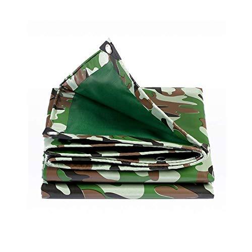 KAISIMYS Lona de Camuflaje Impermeable para Trabajo Pesado Espesar 0.42mm Pesca al Aire Libre Cubierta de Hoja de Tierra para Acampar 500g / m sup2;(Tamaño: 2X3m)