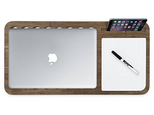 Slate 2.0 Mobile LapDesk - The Essential Laptop Accessory for Students, Professionals, Designers, and Gamers (with Whiteboard, for 11 to 13 inch Laptops, Limited Walnut Bamboo)