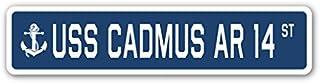 USS CADMUS AR 14 gatuskylt oss marin fartyg veteran seglare gåva