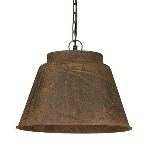 Relaxdays Pendelleuchte Rost im Vintage Look mit künstlich oxidierter Patina in rostbraun auf dem Metall H x D: 140 x 34,5 cm Hängelampe mit Korrosion Lampe im Retro Industrial Stil, braun