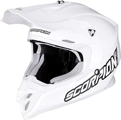 SCORPION VX 16 AIR Solid Casque DE Moto Adulte Unisexe, Blanc, XS