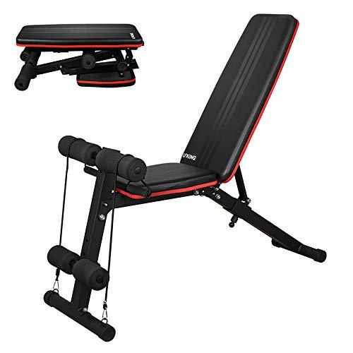 UKing Einstellbar Hantelbank Trainingsbank Sit-ups Ab Bank Fitness Bauchmuskeltraining für Heimgymnastikübungen