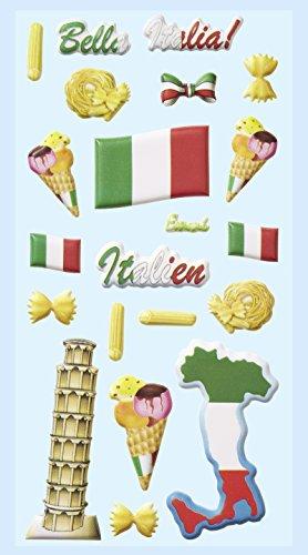 Softy-Sticker, Italien, Schiefer Turm von Pisa,Eis, Italienische Fahne