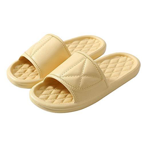 ypyrhh On Mules Shower Sandals Schuhe,rutschfeste Badewanne und Massage Bequeme Hausschuhe-gelb_39-40,Klassische Bequeme Sandale