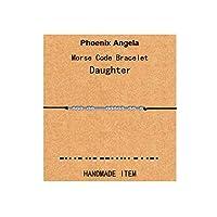Phoenix Angela モールスコードブレスレット ジュエリービーズ シルクコード インスピレーションギフト 女性 男性 娘 カップル