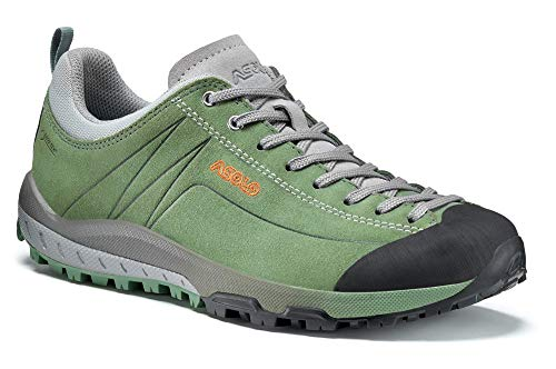 Asolo Women's Space GV Hiking Shoe Hedge Green 7.5 & Knit Cap Bundle
