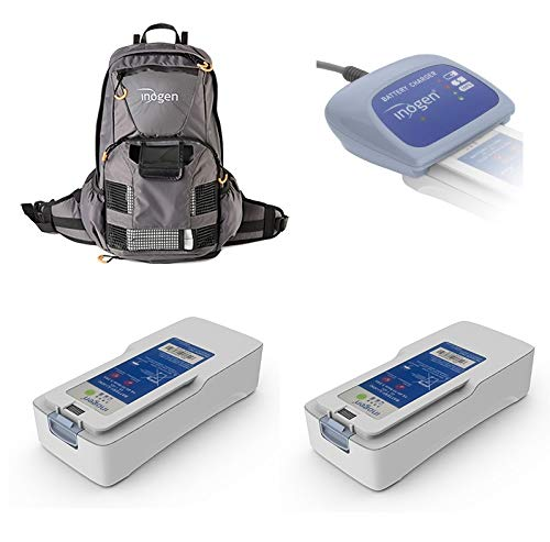 Inogen One G4 Freedom Travel Package | Two Double Batteries, External Charger, Backpack, and Airline Priority Tag Identifier | Oxygen Accessories for Portable Machine