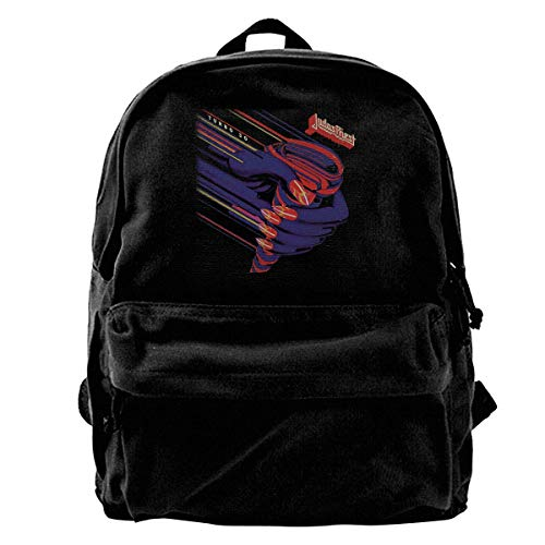 Homebe Canvas Freizeitrucksäcke Waterproof Schulrucksack for Men Women Judas Turbo Priest Lightweight Anti-Theft Outdoor Travel Daypack College Student Rucksack Fits Up to 18.3 Inch Computer