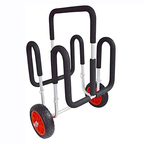 MROSW 2 X SUP Trolley, Aufblasbarer Stand-Up Paddle Board Trolley Dolly 75 kg / 165 LB Aluminium Leder Trolley, beweglicher Transport # Y07007