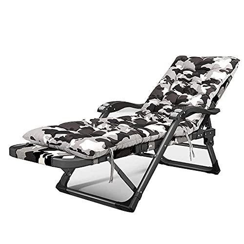 N&O Renovation House Chairs Oversized Zero Gravity Chair XL Terrassenliegen Gepolsterter Klappstuhl 15 Positionen verstellbare Chaiselongue für Terrasse im Freien Strand Rasenpool Sonnenbaden Bräunen