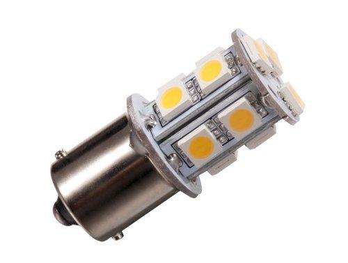 GRV BA15S 1156 1141 Ampoule LED haute Bright voiture 13 – SMD 5050 Blanc chaud AC/DC 12 V 28 V Lot de 10