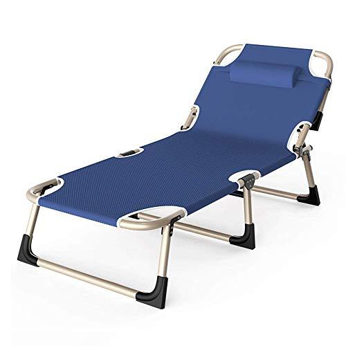 ZDZY Sillas Plegables Sillones reclinables Ajustable, Silla de jardín, Silla de Playa, Tumbona, sillón reclinable portátil, balcón, Oficina para Tomar el Sol, Silla para la Siesta