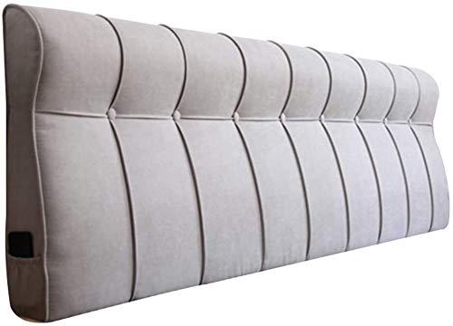 Bett Bett weiche Tasche Kissen Lehnenpolster Doppelbettcouch ohne beweglichen Lordosenstütze bewegbar bedspread Stoff,B-150x10x60CM