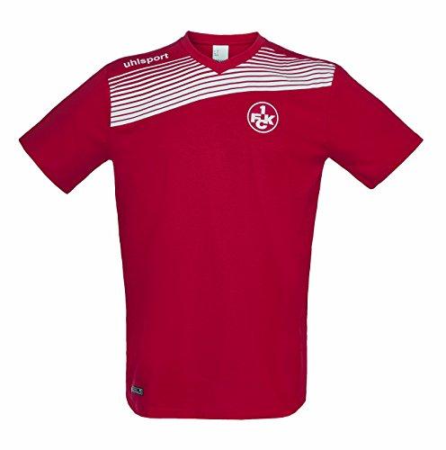 uhlsport FCK Liga 2.0–Camiseta de algodón para 16/17T, Hombre, FCK Liga 2.0 Baumwoll T-Shirt 16/17, Rojo y Blanco, 140