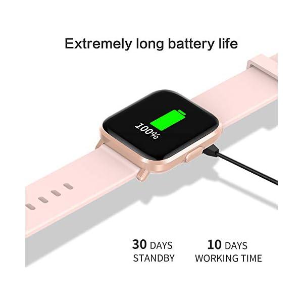 GRDE Reloj Inteligente Hombre Mujer, Smartwatch Fitness 24H Monitor de Oxigeno(SpO2)/Ritmo Cardíaco/Sueño 5ATM… 3