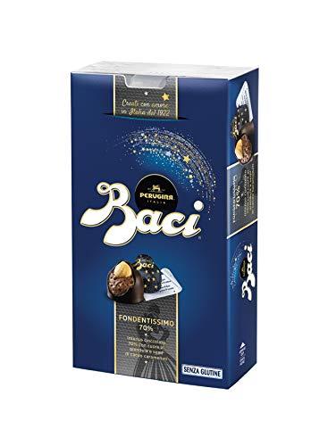 Baci Perugina fondentissimo 70% bombones de chocolate fondant extra Ripieno con avellana 200g–[unidades 5]